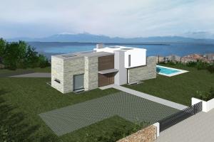 Christakis Oikonomou and Associates, family homes in Thessaloniki, Panorama, sea view
